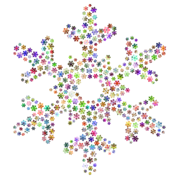Snowflake Fractal Prismatic No Background