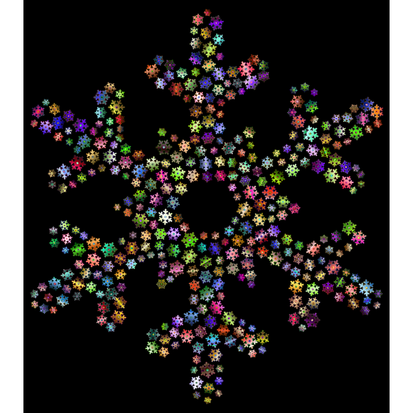 Snowflake Fractal Prismatic Pattern