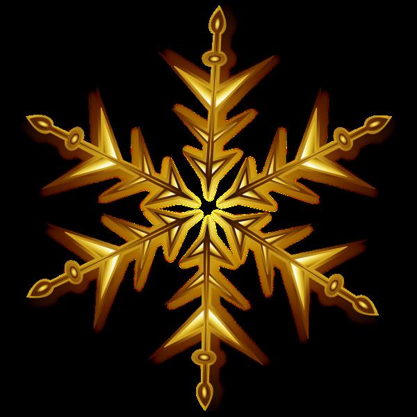 Vector illustration of golden snowflake