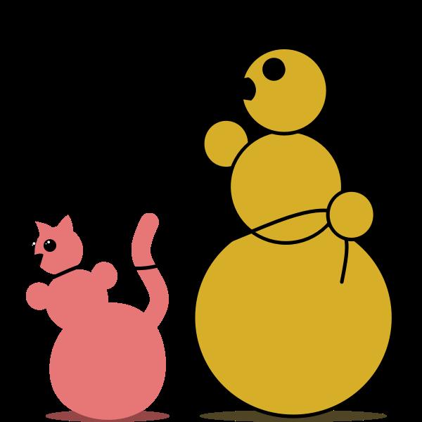 Snowman Cat Fancier by Rones