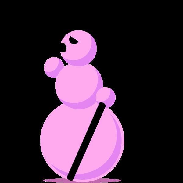 Snowman with scythe vector
