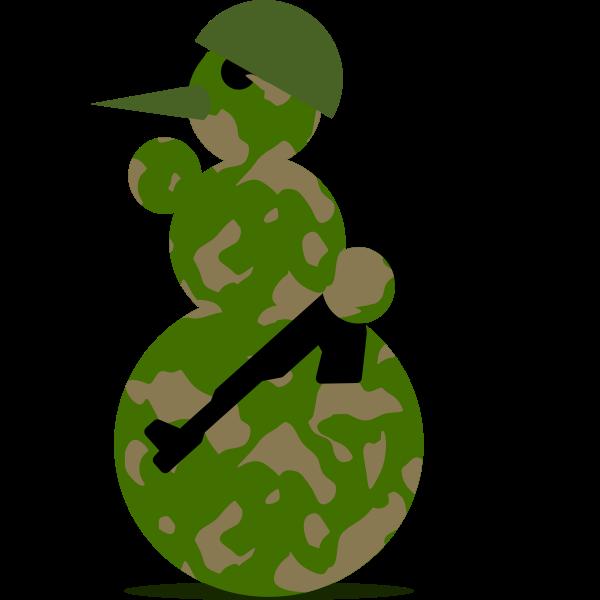 Snowman soldier vector graphics