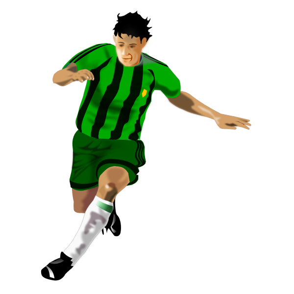 A soccer player vector clip art