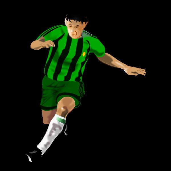 A soccer player vector clip art
