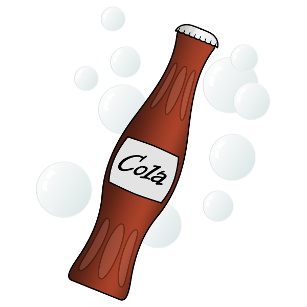 Vector illustration of small soda bottle