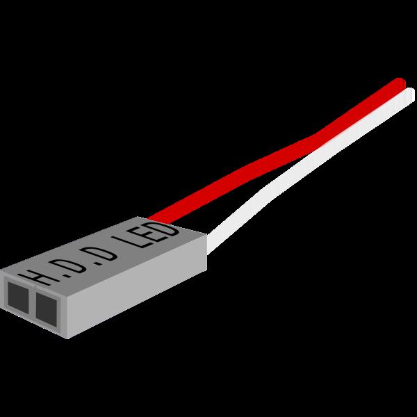H.D.D LED plug vector image