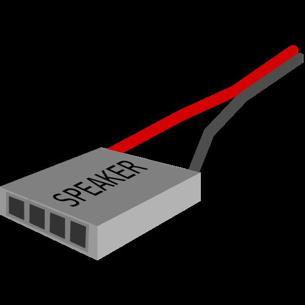Speaker plug vector image