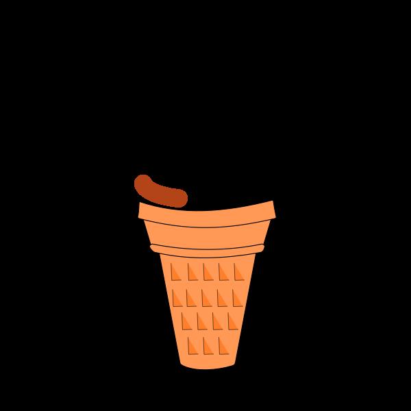 Animation Chocolate Soft Serve