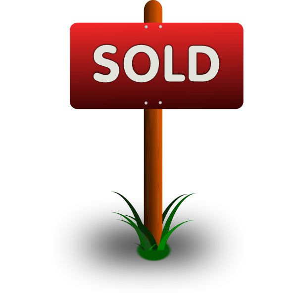 Sold Vector Sign