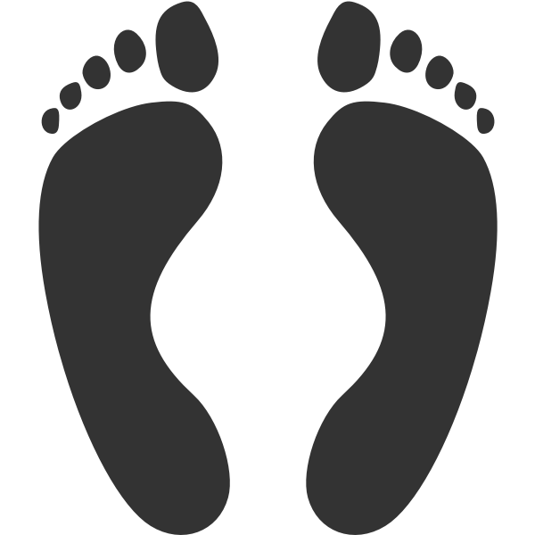 Human footprints
