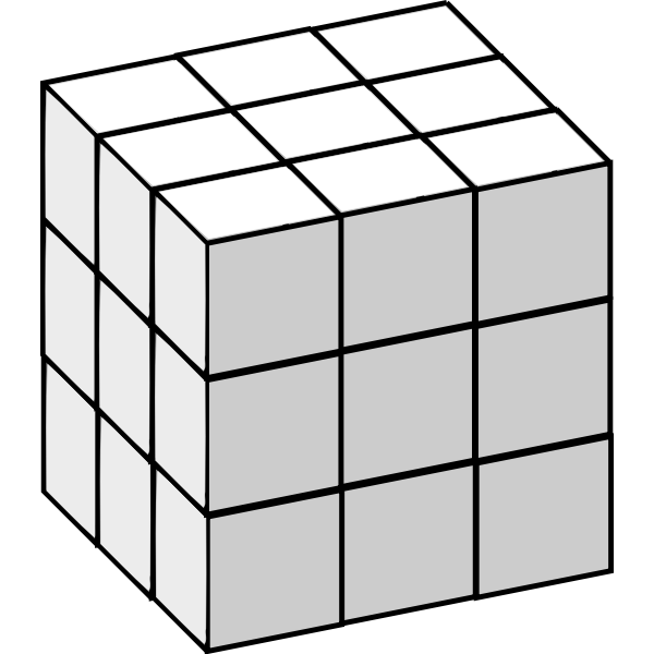 Rubick cube grey color