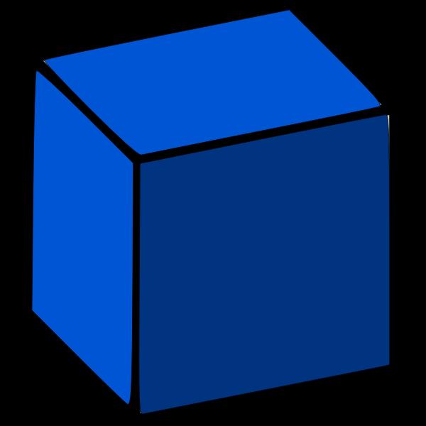 3d cube blue color