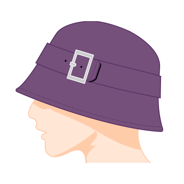 Female bell hat vector image