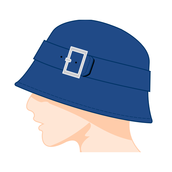 Ladies bell hat vector image