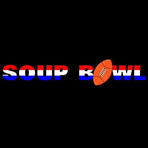 Super Bowl parody sign vector illustration