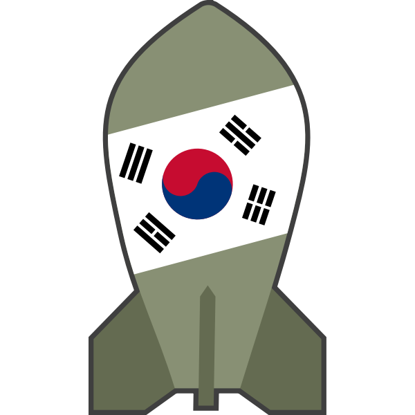 Vector drawing of hypothetical South Korean nuclear bomb