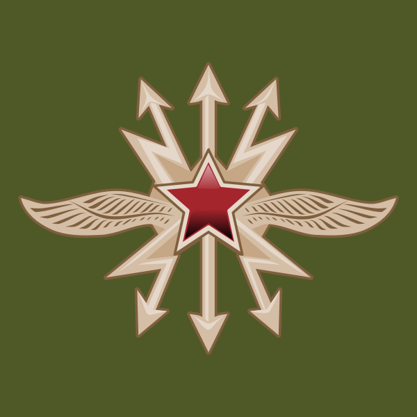 Emblem of the Signal Troops vector illustration