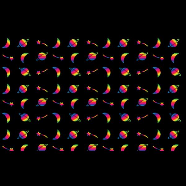 Space Theme Pattern Seamless 2