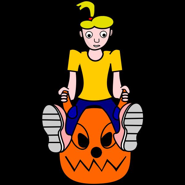 Cartoon vector image of girl