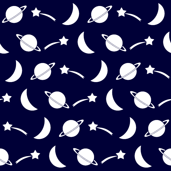 Seamless pattern with space objects