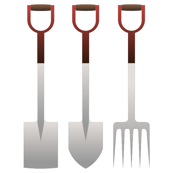 Spades and forks