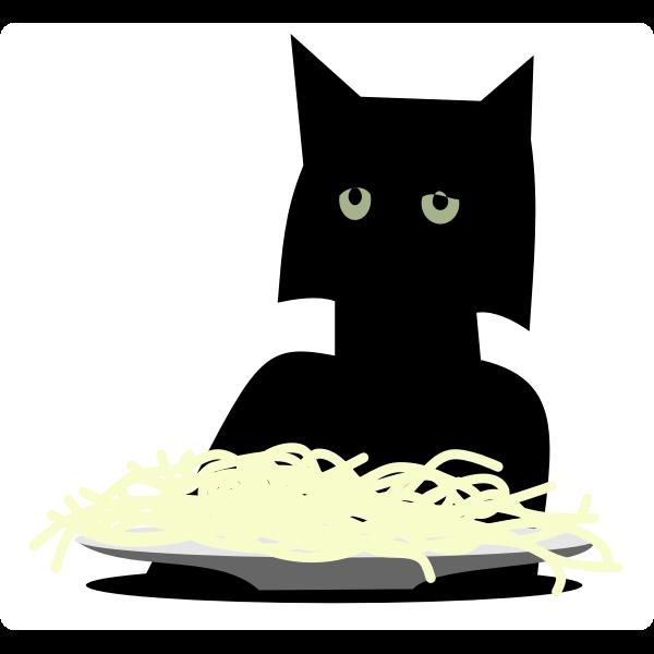 Spaghetti cat vector image