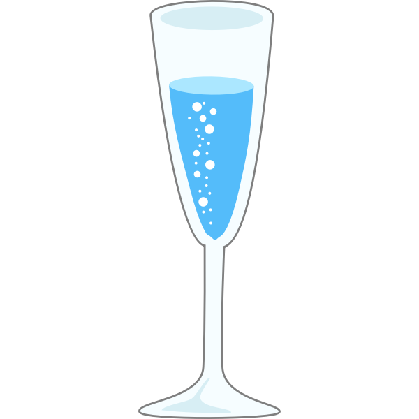 Glass of bubbly vector illustration