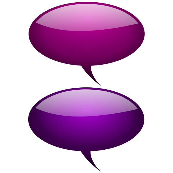 Maroon and pink speech bubbles vector illustration