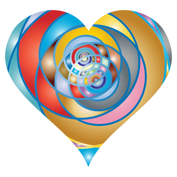 Spiral Heart Colorful Pattern