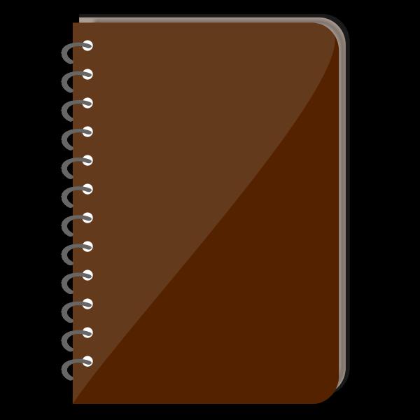 Spiral notebook vector illustration
