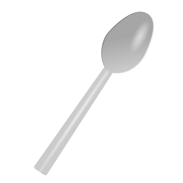 Plastic spoon vector illustration