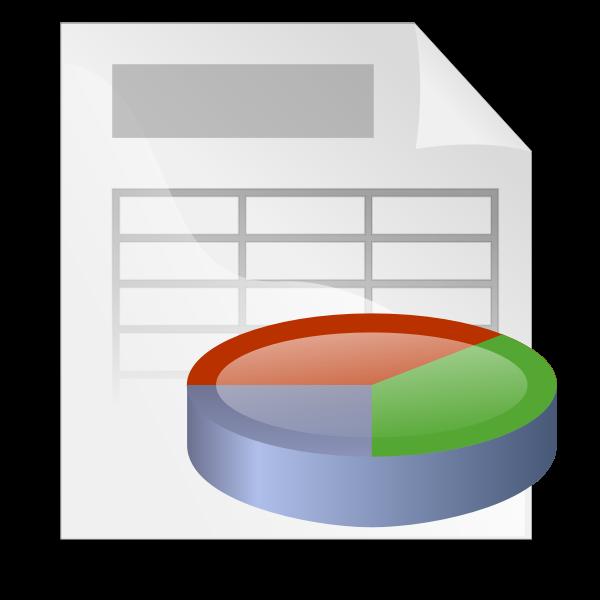 Spreadsheet icon vector graphics