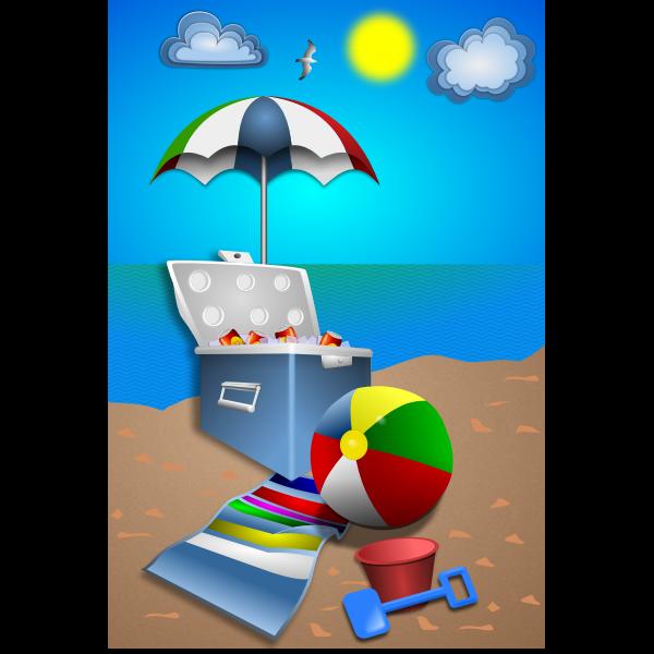 Beach fun set vector image