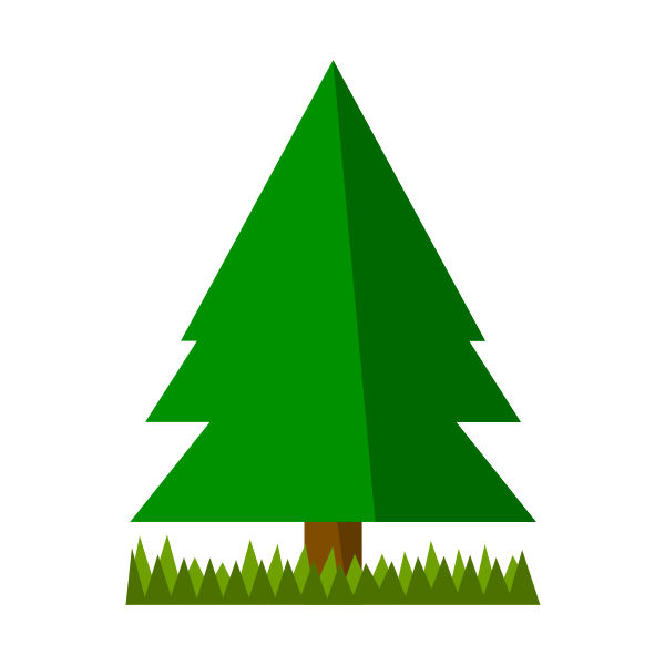 Spruce with grass