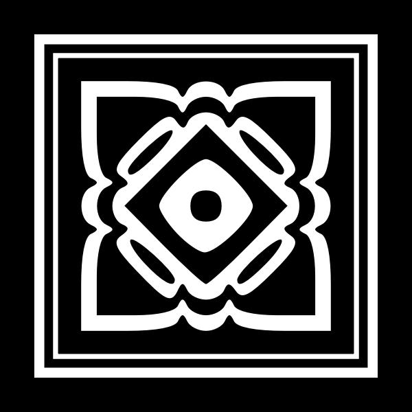 Black and white decorative emblem