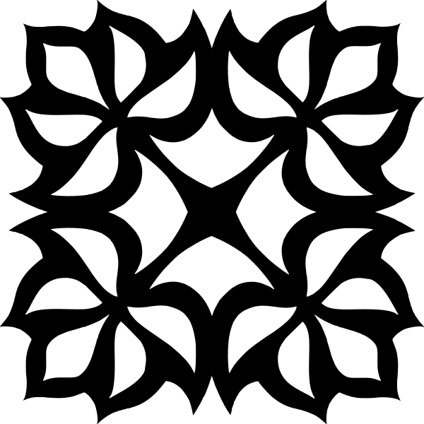 Square Ornament Silhouette