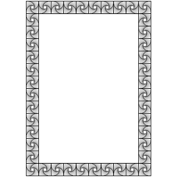 Vector image of symmetrical shapes decorative border