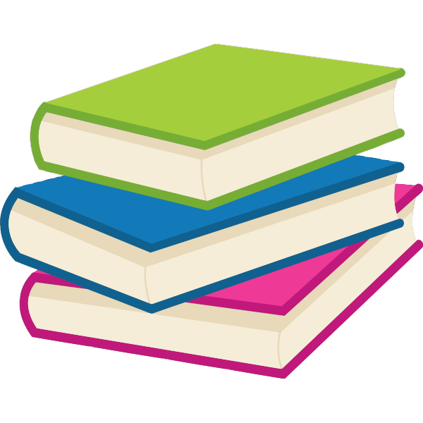 Stack of books vector clip art