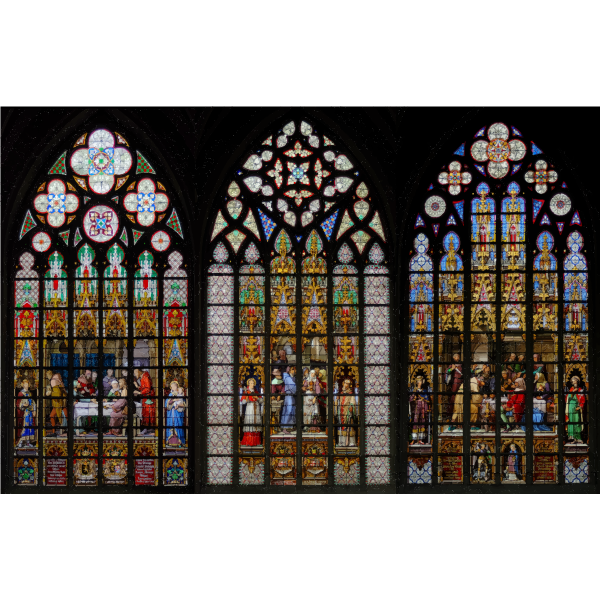 Stained Glass Windows Cathedral Of Saints Michel et Gudule Brussels