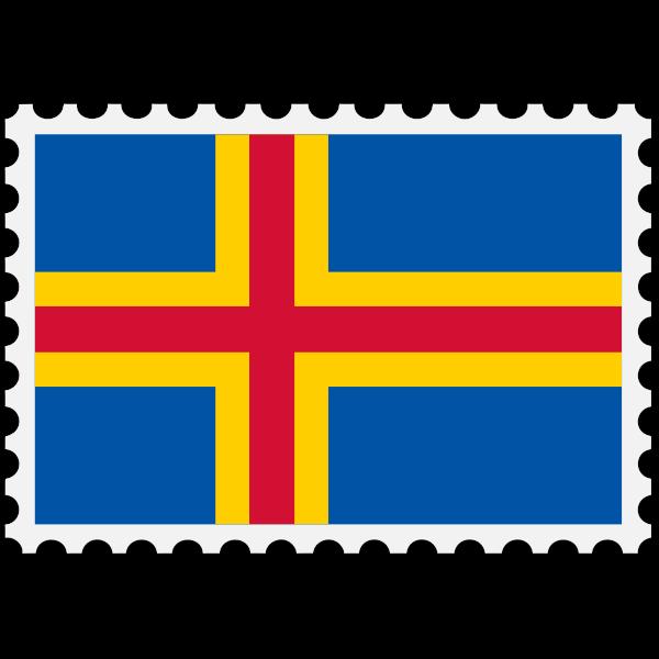 Aland flag symbol