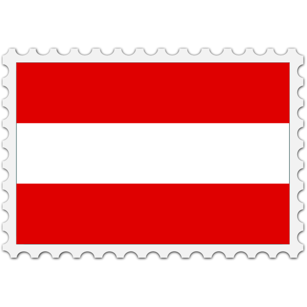 Austria flag stamp
