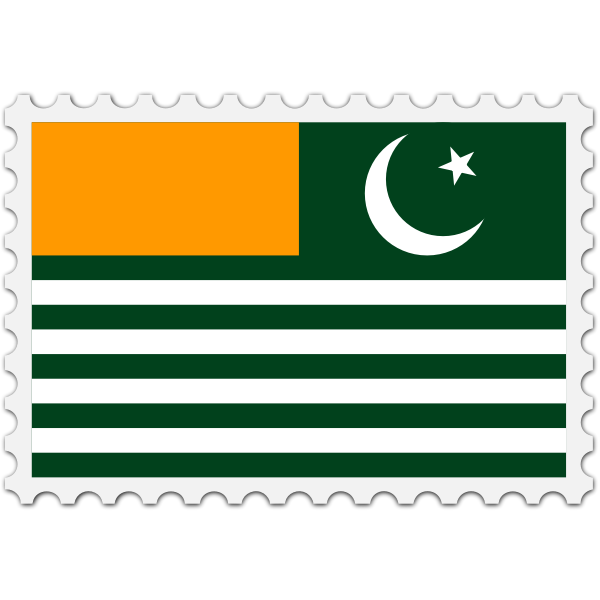 Azad Kashmir flag stamp