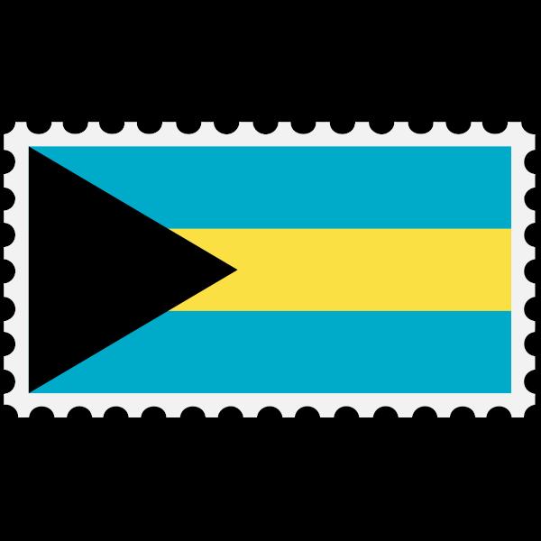 Bahamas flag stamp
