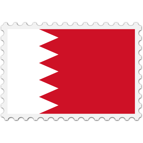 Bahrain flag stamp