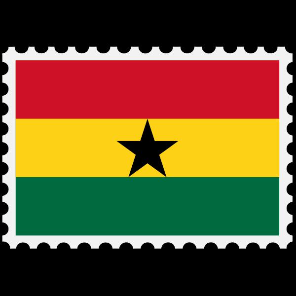 Ghana flag stamp