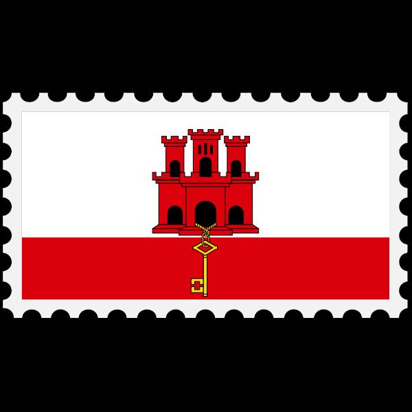 Gibraltar flag stamp svg