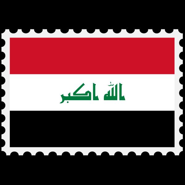 Iraq flag stamp