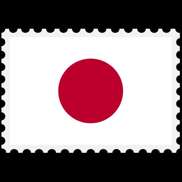 Japan flag stamp
