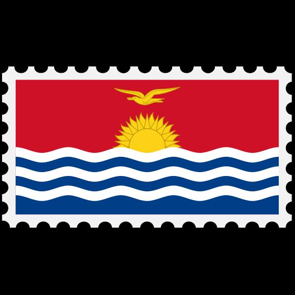 Kiribati flag stamp