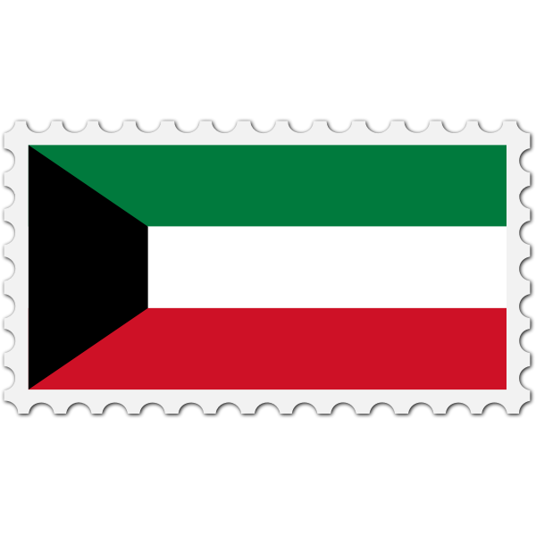 Kuwait flag stamp